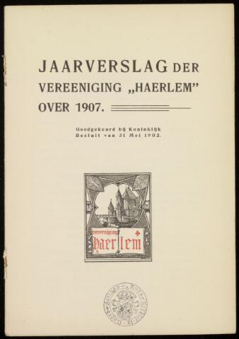 Jaarverslagen en Jaarboeken Vereniging Haerlem 1907-01-01