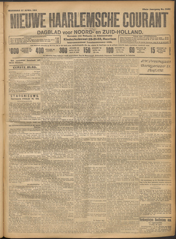 Nieuwe Haarlemsche Courant 1914-04-27
