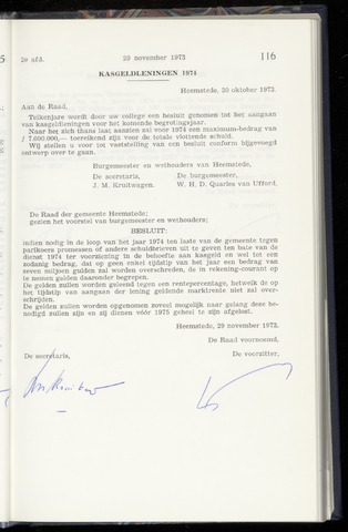Raadsnotulen Heemstede 1973-11-29