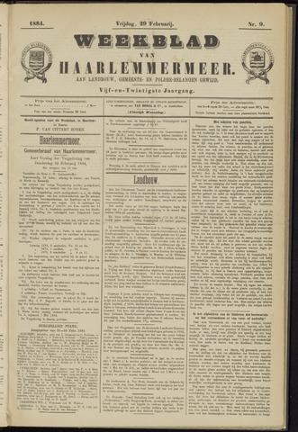 Weekblad van Haarlemmermeer 1884-02-29