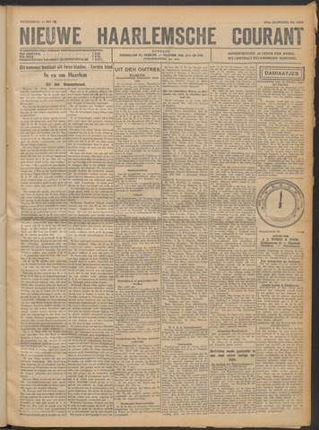 Nieuwe Haarlemsche Courant 1922-05-18