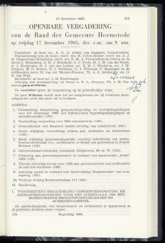 Raadsnotulen Heemstede 1965-12-17