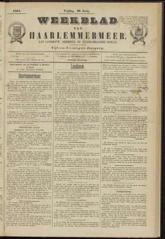 Weekblad van Haarlemmermeer 1884-06-20