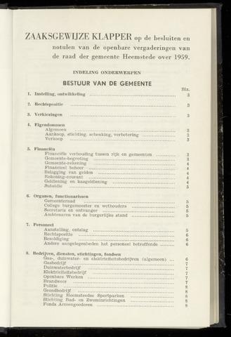 Raadsnotulen Heemstede 1959-01-01