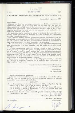 Raadsnotulen Heemstede 1970-09-24
