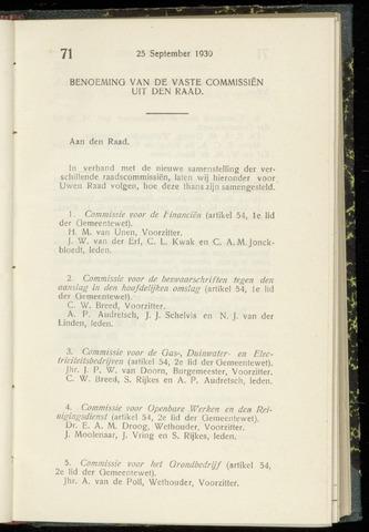Raadsnotulen Heemstede 1930-09-25