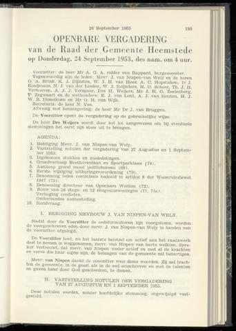 Raadsnotulen Heemstede 1953-09-24