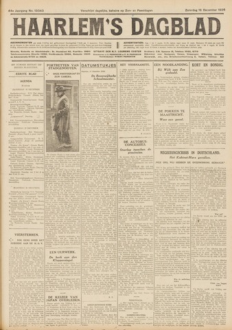 Haarlem's Dagblad 1926-12-18