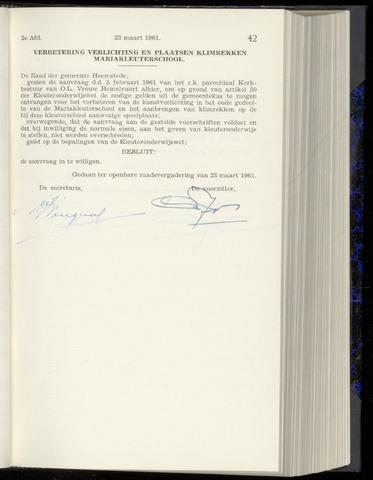 Raadsnotulen Heemstede 1961-03-23