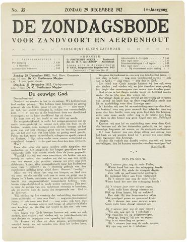 De Zondagsbode voor Zandvoort en Aerdenhout 1912-12-29
