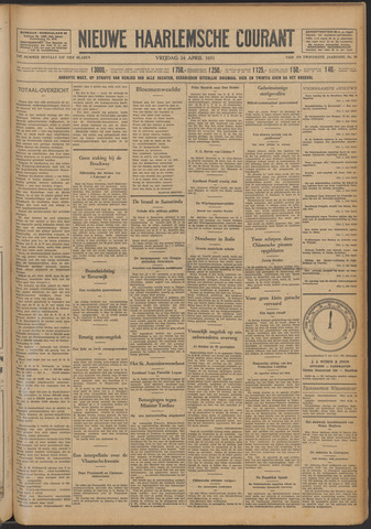 Nieuwe Haarlemsche Courant 1931-04-24