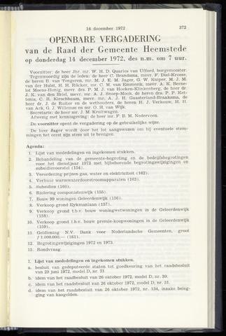 Raadsnotulen Heemstede 1972-12-14