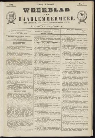 Weekblad van Haarlemmermeer 1882-01-06
