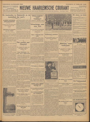 Nieuwe Haarlemsche Courant 1935-02-27