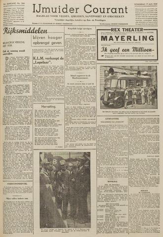 IJmuider Courant 1939-08-17