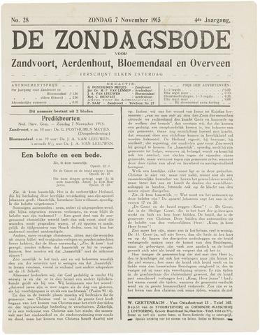 De Zondagsbode voor Zandvoort en Aerdenhout 1915-11-07