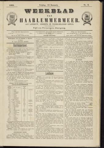 Weekblad van Haarlemmermeer 1884-01-11
