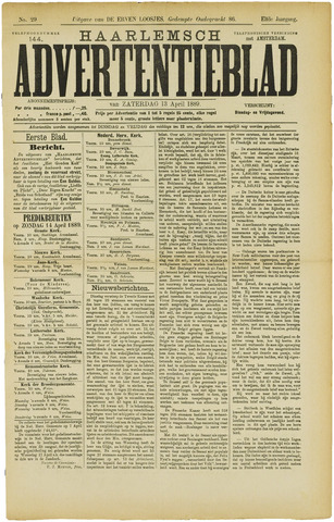 Haarlemsch Advertentieblad 1889-04-13