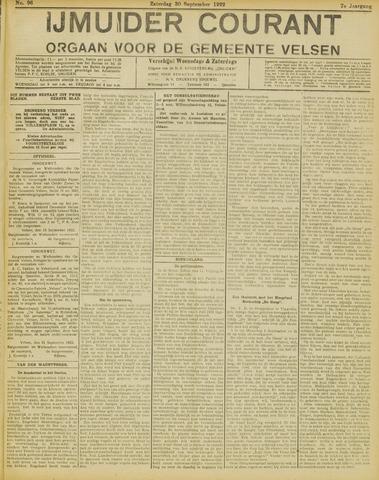 IJmuider Courant 1922-09-30