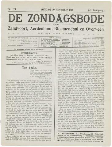 De Zondagsbode voor Zandvoort en Aerdenhout 1916-11-19