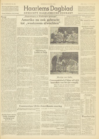 Haarlem's Dagblad 1954-06-29