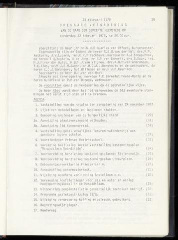 Raadsnotulen Heemstede 1978-02-23
