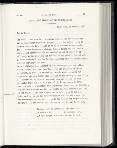 Raadsnotulen Heemstede 1977-03-31