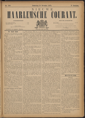 Nieuwe Haarlemsche Courant 1878-11-28