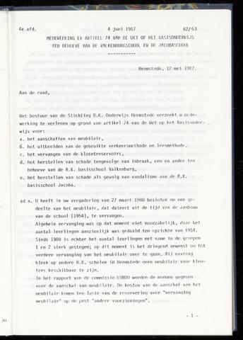 Raadsnotulen Heemstede 1987-06-04