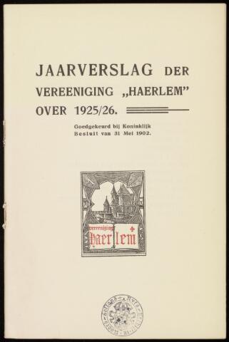 Jaarverslagen en Jaarboeken Vereniging Haerlem 1925