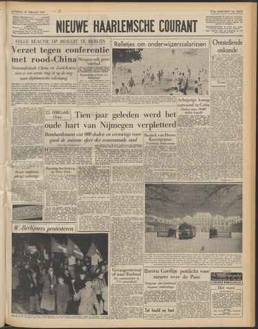 Nieuwe Haarlemsche Courant 1954-02-20