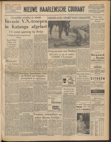 Nieuwe Haarlemsche Courant 1960-08-06