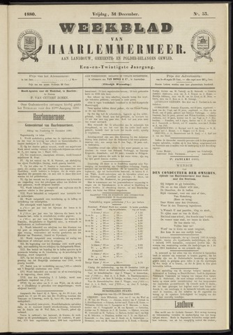 Weekblad van Haarlemmermeer 1880-12-31