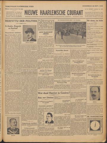Nieuwe Haarlemsche Courant 1932-09-22