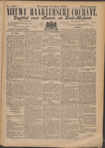 Nieuwe Haarlemsche Courant 1903-03-18