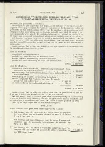 Raadsnotulen Heemstede 1962-10-25