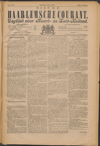 Nieuwe Haarlemsche Courant 1899-05-04