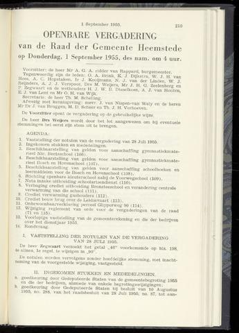 Raadsnotulen Heemstede 1955-09-01
