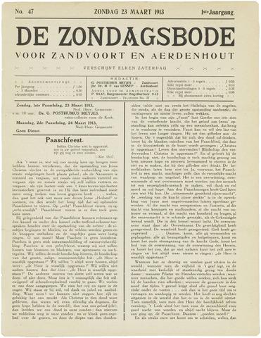 De Zondagsbode voor Zandvoort en Aerdenhout 1913-03-23