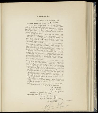 Raadsnotulen Heemstede 1914-08-10