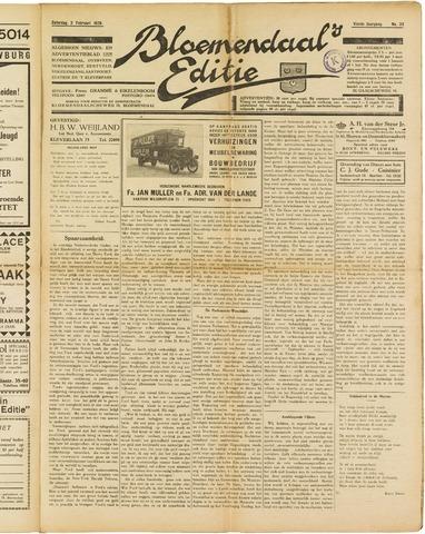 Bloemendaal's Editie 1929-02-02