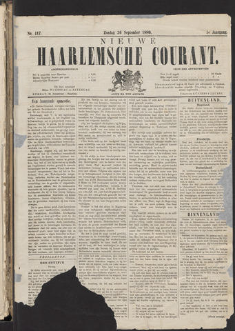 Nieuwe Haarlemsche Courant 1880-09-26