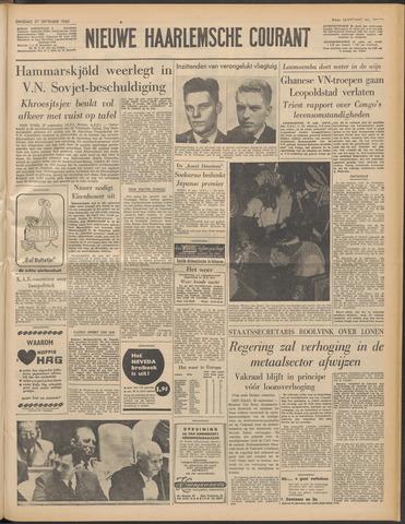 Nieuwe Haarlemsche Courant 1960-09-27