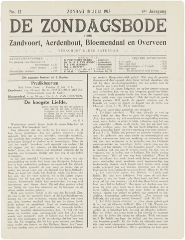 De Zondagsbode voor Zandvoort en Aerdenhout 1915-07-18