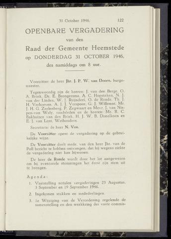 Raadsnotulen Heemstede 1946-10-31