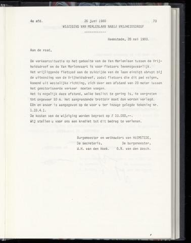 Raadsnotulen Heemstede 1980-06-26
