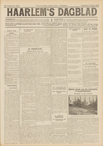 Haarlem's Dagblad 1926-10-14
