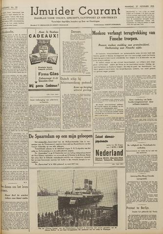 IJmuider Courant 1939-11-27