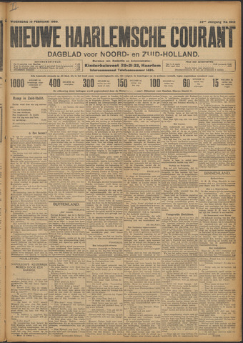 Nieuwe Haarlemsche Courant 1909-02-10