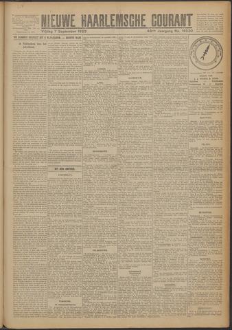 Nieuwe Haarlemsche Courant 1923-09-07